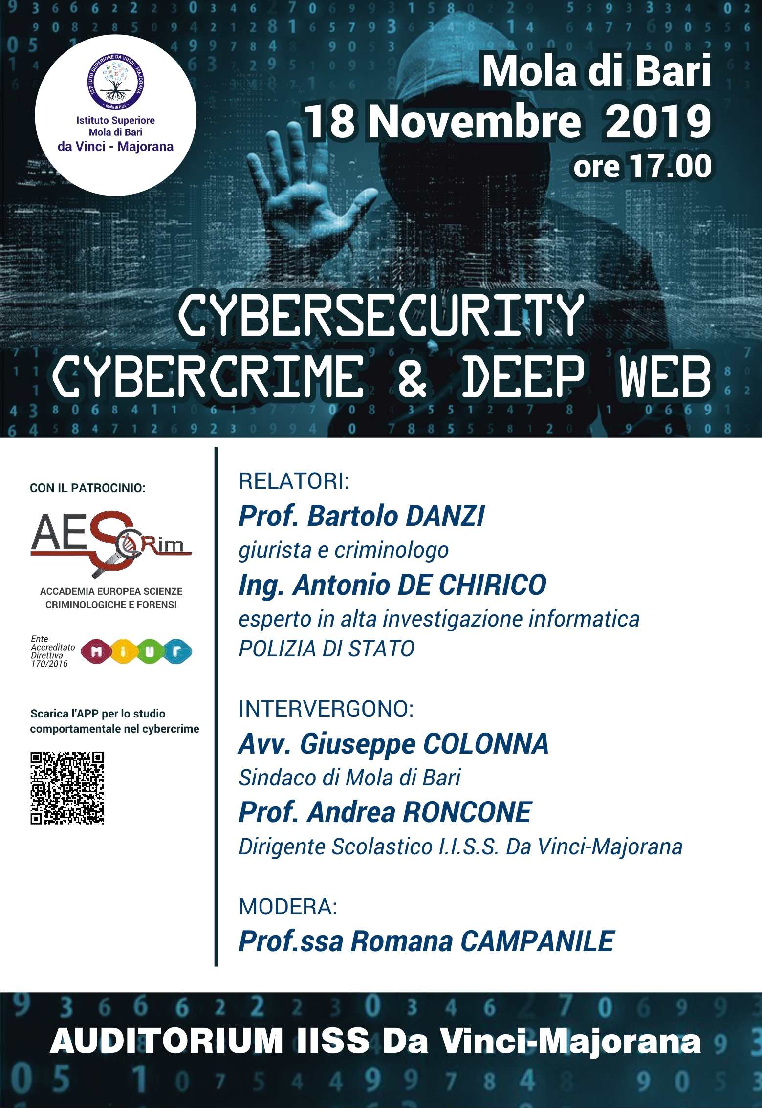 Locandina Conferenza Cybersecurity