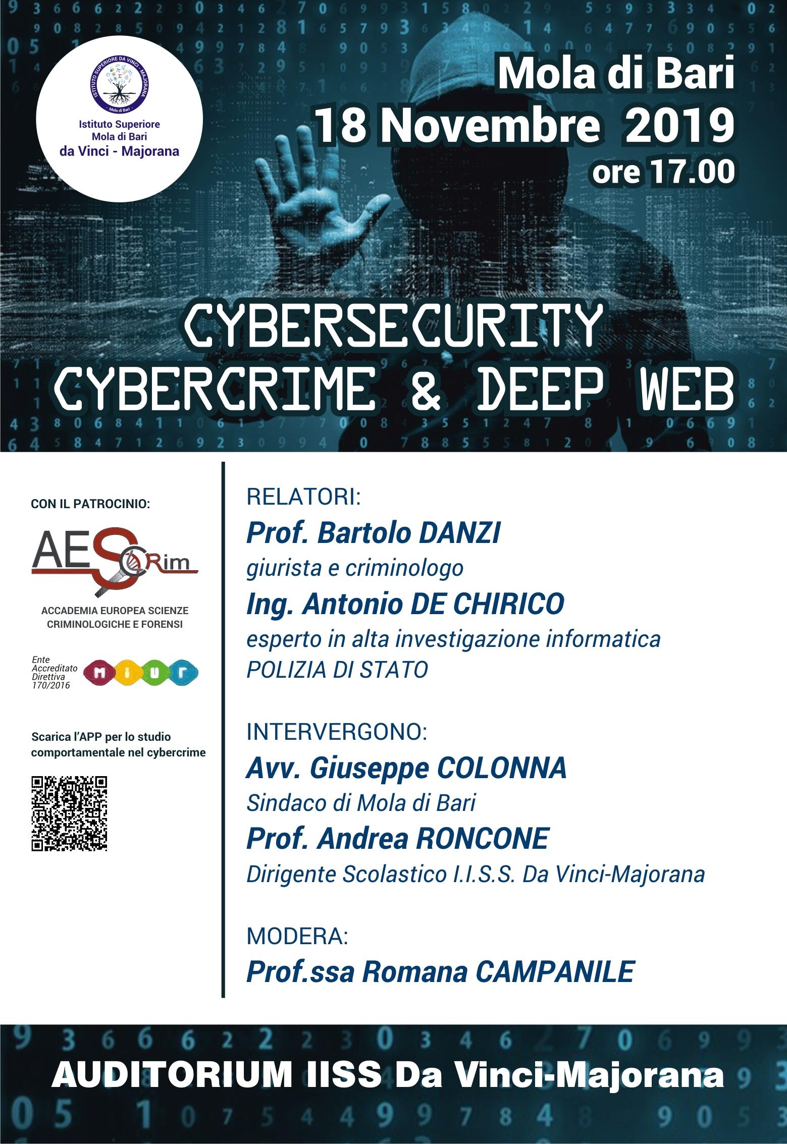 Locandina Conferenza Cybersecurity